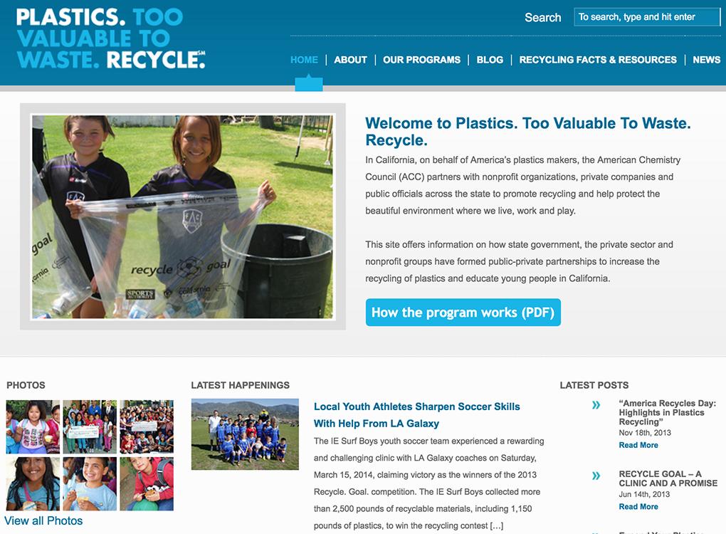 2valuable2waste.com homepage