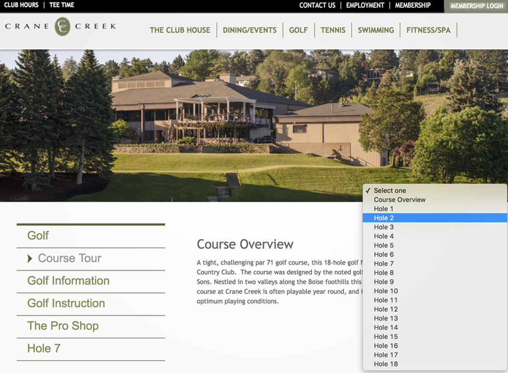 Course tour secondary page