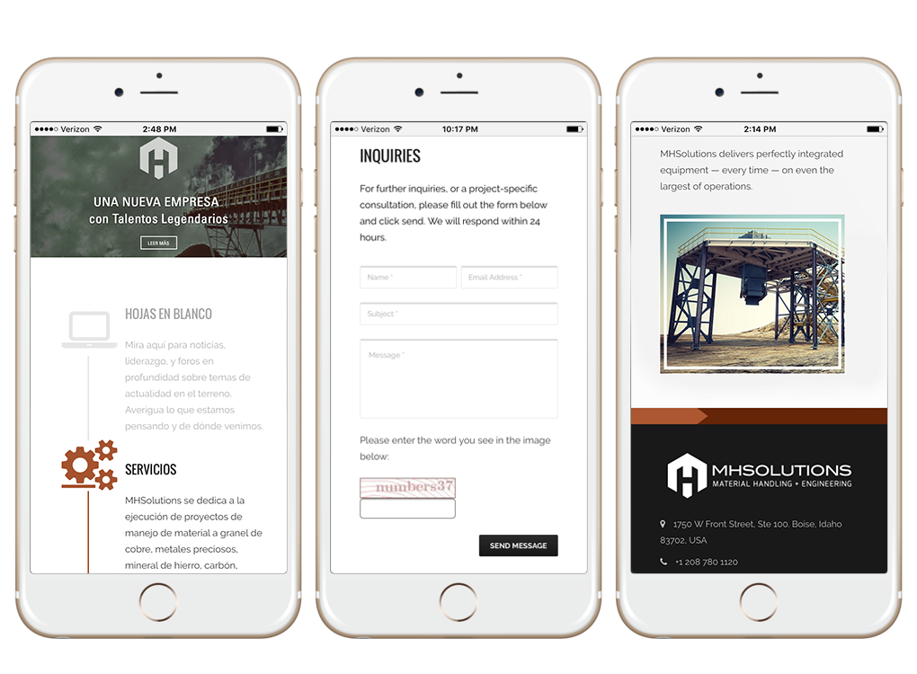 MH mobile pages